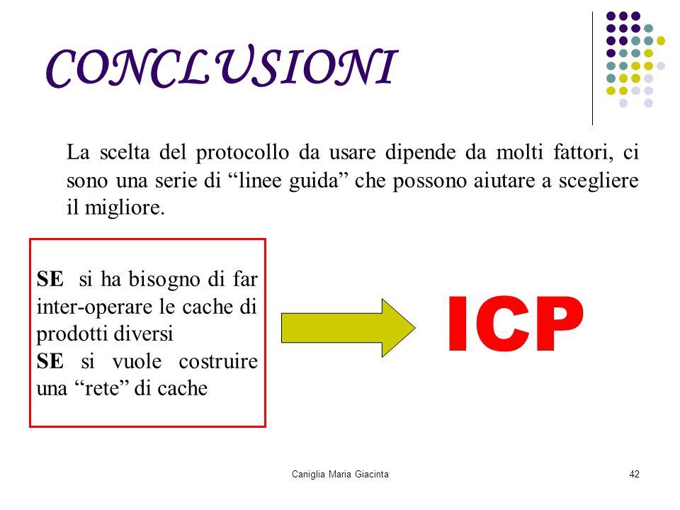 """Caniglia Maria Giacinta42 CONCLUSIONI La scelta del protocollo da usare dipende da molti fattori, ci sono una serie di """"linee guida"""" che possono aiuta"""