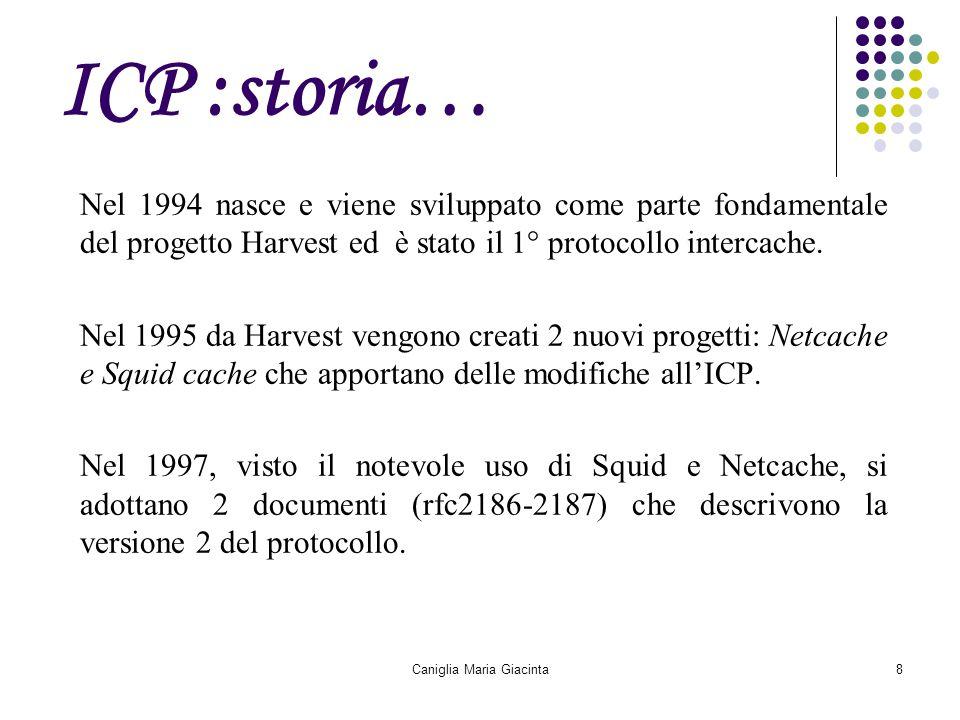 Caniglia Maria Giacinta8 ICP :storia… Nel 1994 nasce e viene sviluppato come parte fondamentale del progetto Harvest ed è stato il 1° protocollo inter