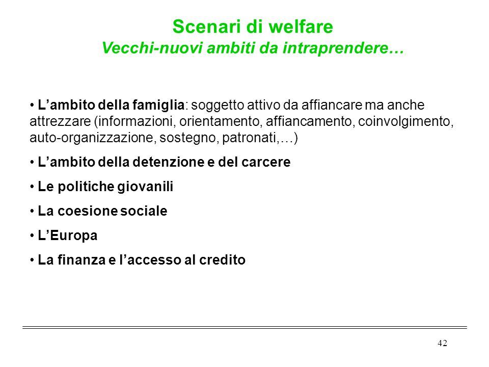42 L'ambito della famiglia: soggetto attivo da affiancare ma anche attrezzare (informazioni, orientamento, affiancamento, coinvolgimento, auto-organiz