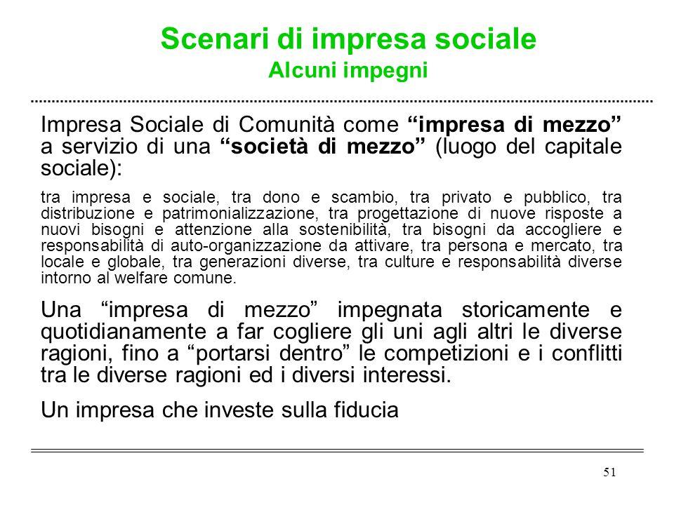 """51 Impresa Sociale di Comunità come """"impresa di mezzo"""" a servizio di una """"società di mezzo"""" (luogo del capitale sociale): tra impresa e sociale, tra d"""