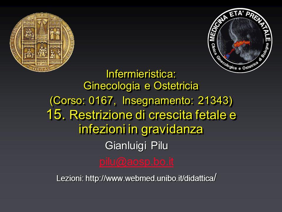 Infermieristica: Ginecologia e Ostetricia (Corso: 0167, Insegnamento: 21343) 15.