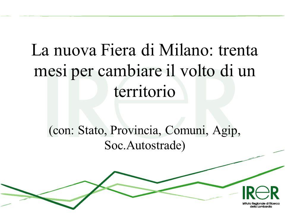 La nuova Fiera di Milano: trenta mesi per cambiare il volto di un territorio (con: Stato, Provincia, Comuni, Agip, Soc.Autostrade)