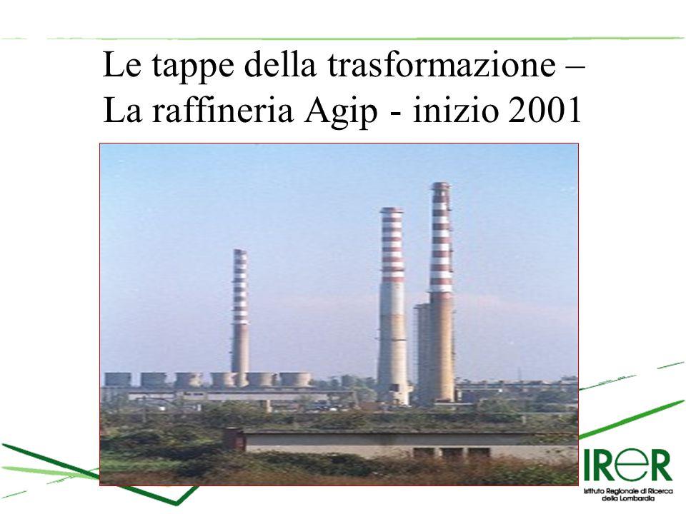Le tappe della trasformazione – La raffineria Agip - inizio 2001