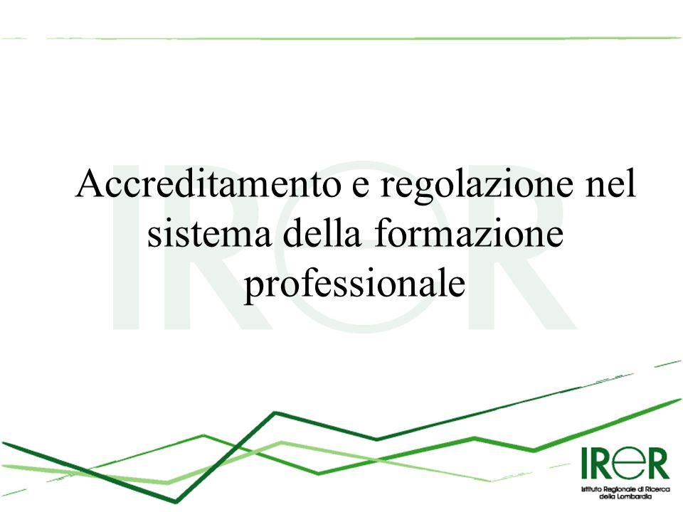Accreditamento e regolazione nel sistema della formazione professionale