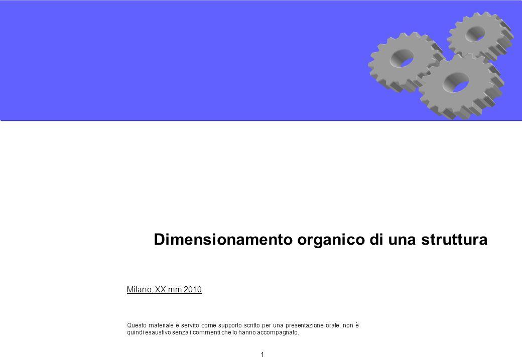 1 Milano, XX mm 2010 Questo materiale è servito come supporto scritto per una presentazione orale; non è quindi esaustivo senza i commenti che lo hanno accompagnato.