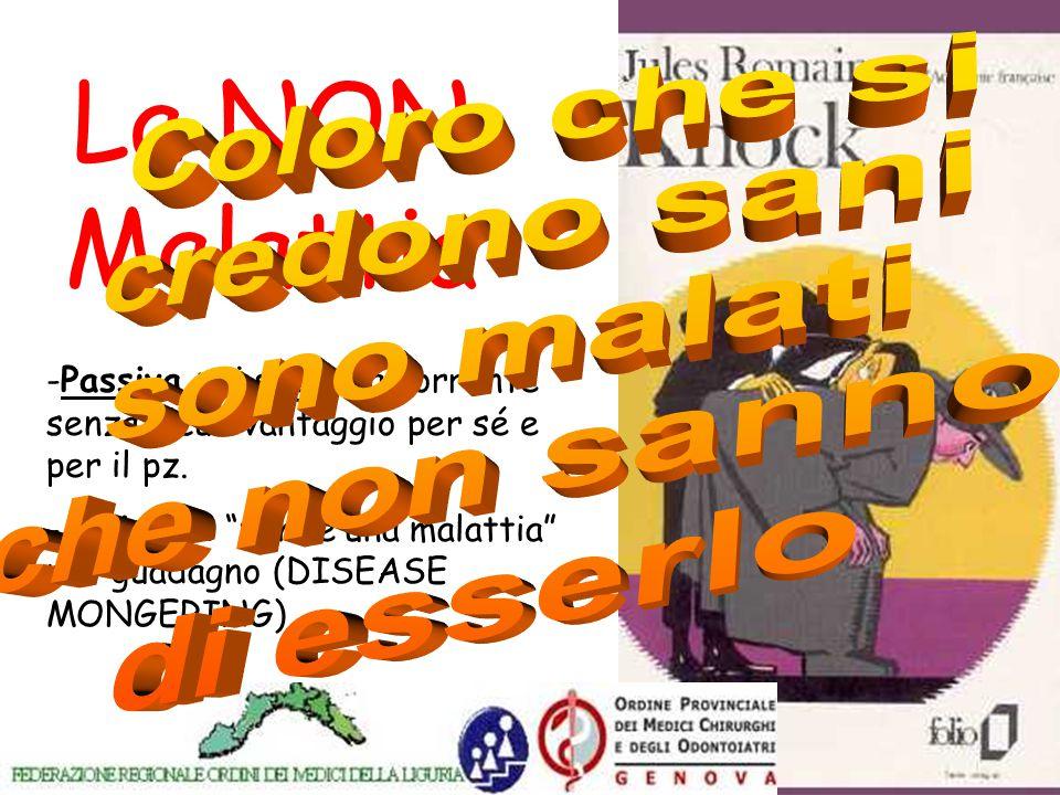 www.apel-pediatri.it La NON Malattia -Passiva : si segue la corrente senza alcun vantaggio per sé e per il pz.