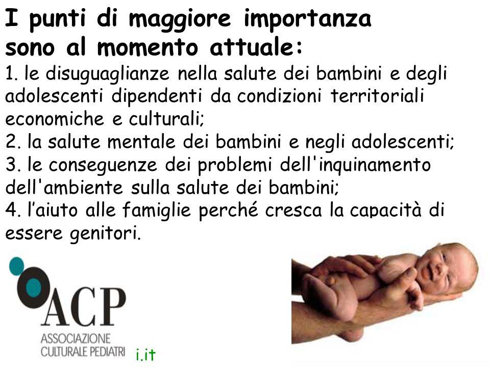 www.apel-pediatri.it I punti di maggiore importanza sono al momento attuale: 1.
