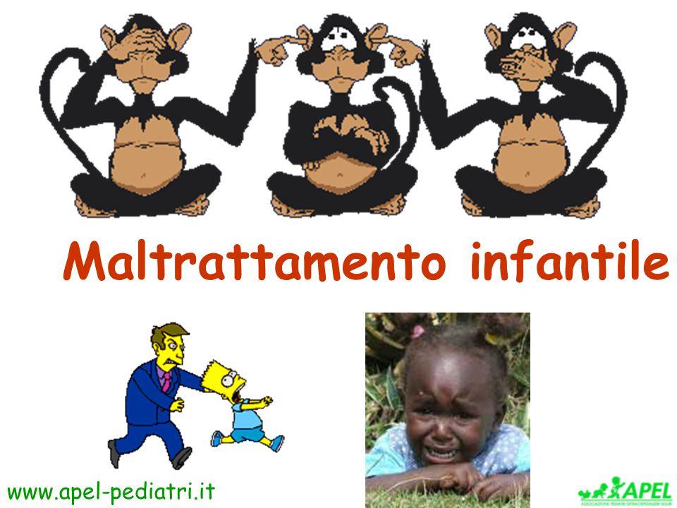 www.apel-pediatri.it Il partner violento ALCOLISTA 9% PRECEDENTI PENALI 9% TOSSICODIPENDENTE 8% INSOSPETTABILE 60% CREAZZO ET AL, 1999