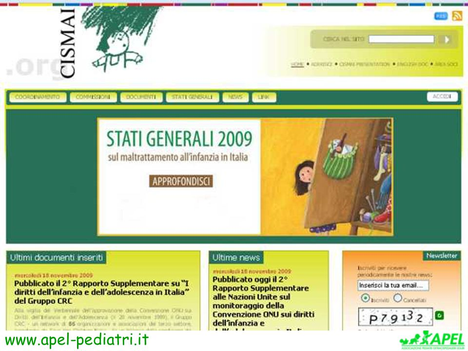 www.apel-pediatri.it CISMAI