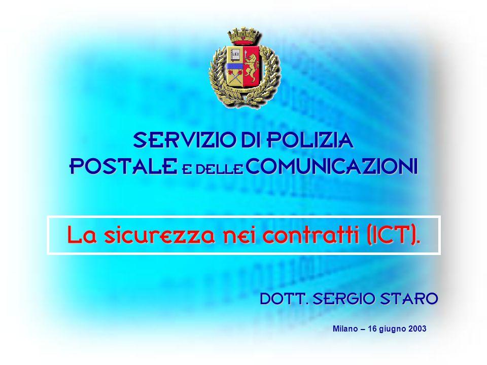 SERVIZIO DI POLIZIA POSTALE E DELLE COMUNICAZIONI DOTT.