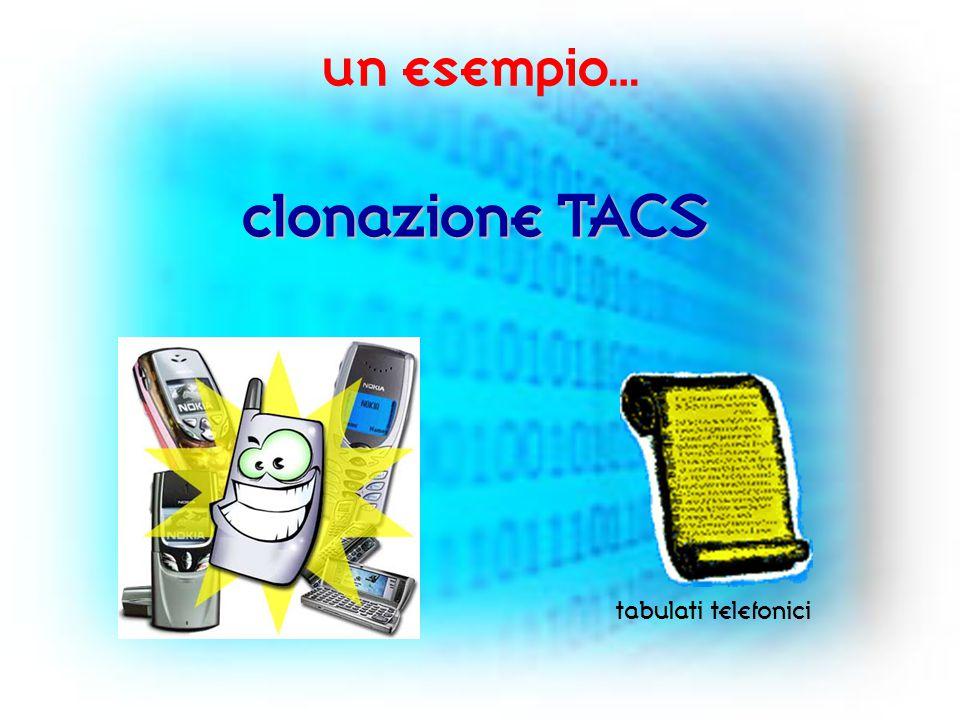 un esempio… clonazione TACS tabulati telefonici