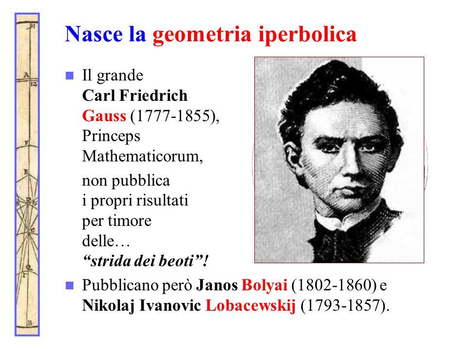 """Nasce la geometria iperbolica Il grande Carl Friedrich Gauss (1777-1855), Princeps Mathematicorum, non pubblica i propri risultati per timore delle… """""""