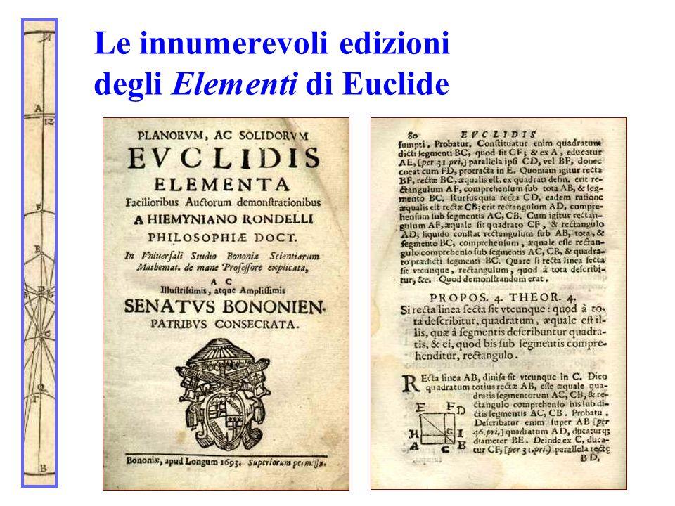 Le innumerevoli edizioni degli Elementi di Euclide