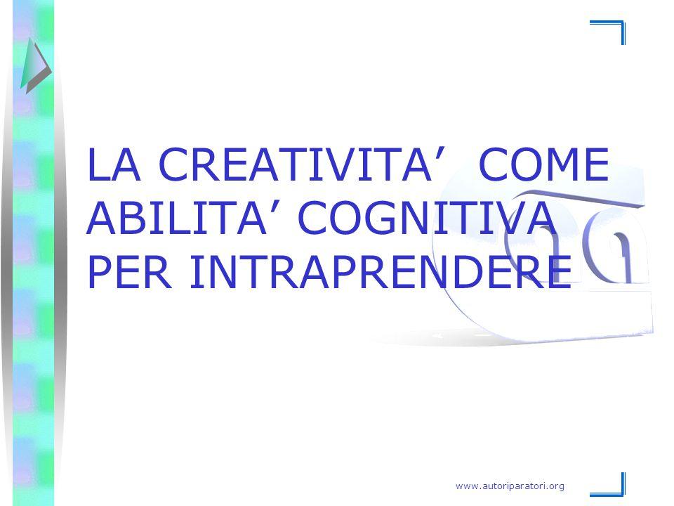 www.autoriparatori.org LA CREATIVITA' COME ABILITA' COGNITIVA PER INTRAPRENDERE