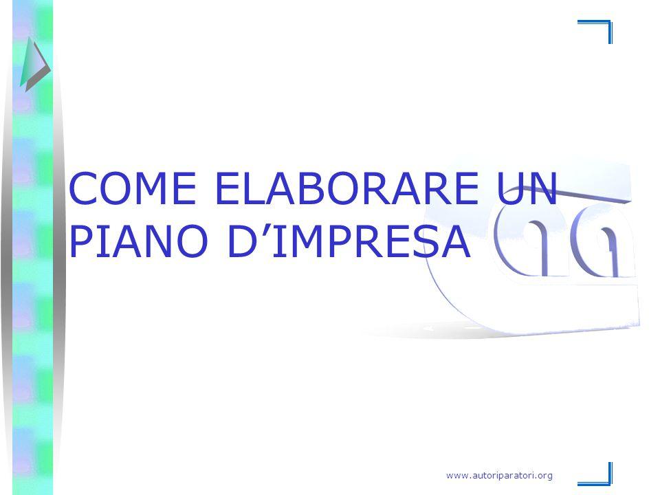 www.autoriparatori.org COME ELABORARE UN PIANO D'IMPRESA