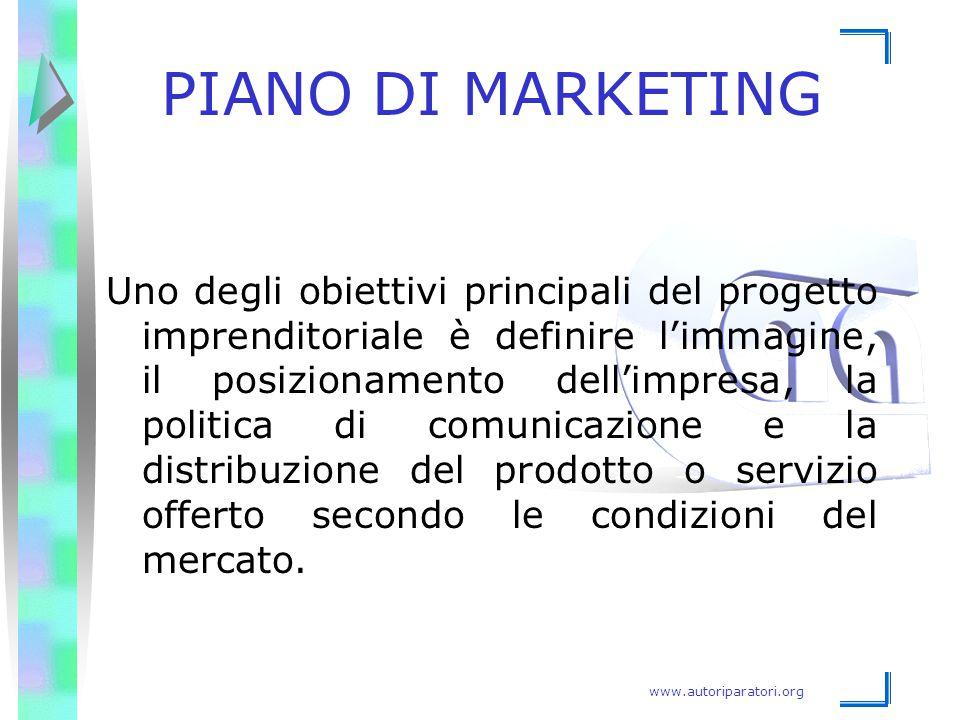 www.autoriparatori.org PIANO DI MARKETING Uno degli obiettivi principali del progetto imprenditoriale è definire l'immagine, il posizionamento dell'im