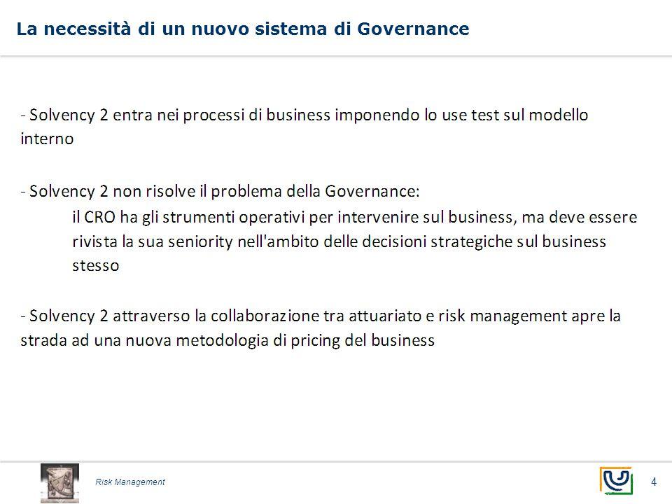 Risk Management La necessità di un nuovo sistema di Governance 4