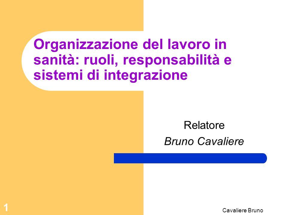 Cavaliere Bruno 61 Legge 42/1999 Profilo professionale Formazione ricevuta Codice deontologico Limite: atto medico