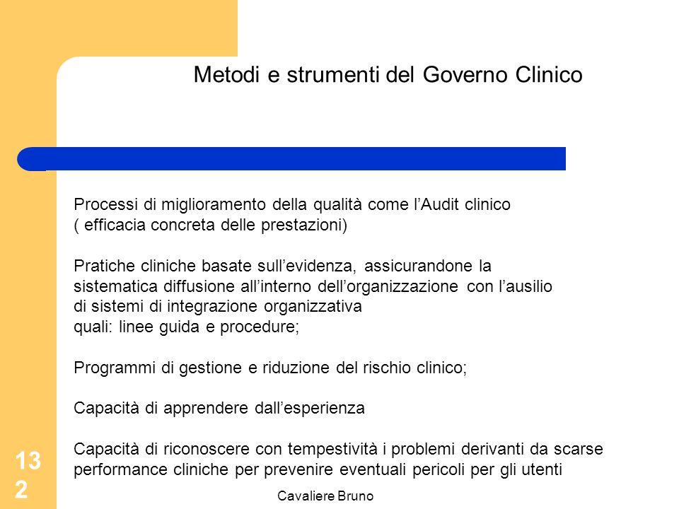 Cavaliere Bruno 131 Identificazione delle responsabilità L'organizzazione sanitaria è responsabile di erogare prestazioni di alta qualità e essere in