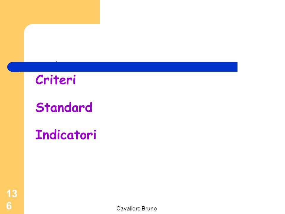 Cavaliere Bruno 135 Raggiungimento della performance di qualità dipende da: Q= ______ Utilità Sacrificio Utilità: efficienza; risoluzione del problema