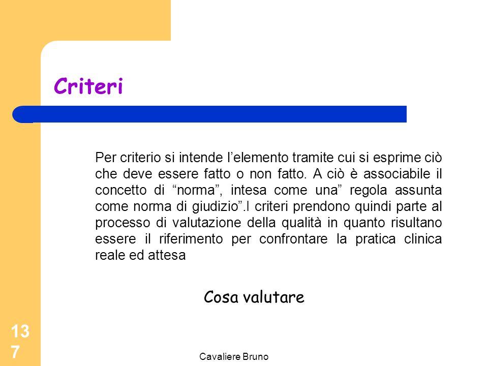 Cavaliere Bruno 136 Criteri Standard Indicatori.