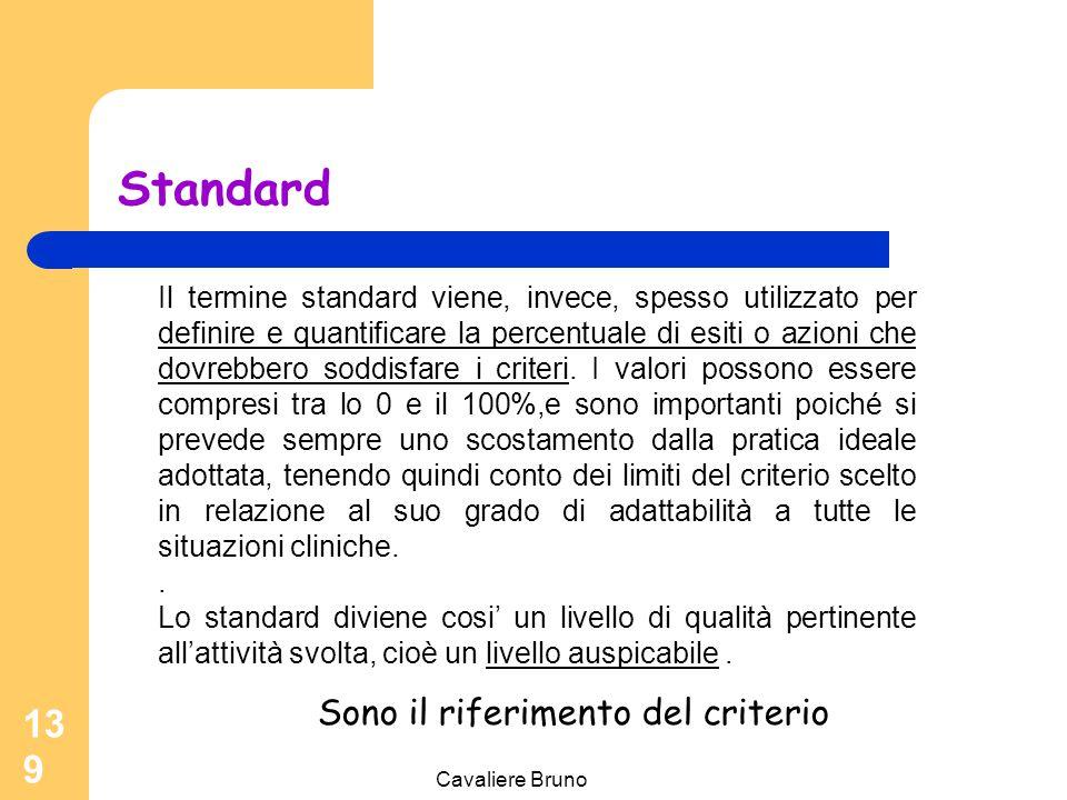 Cavaliere Bruno 138 Criteri Solitamente vengono individuate, per ogni criterio,le persone a cui si applica il servizio e l'azione o il risultato di es