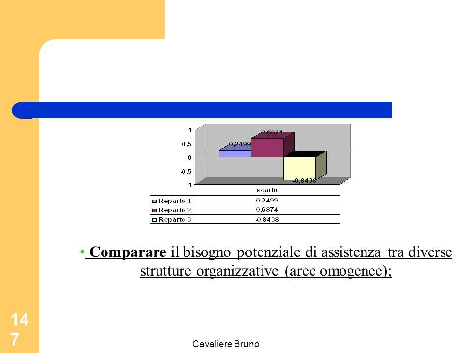 Cavaliere Bruno 146 Documentare la Complessità Monitorare il bisogno potenziale di assistenza per singolo malato ;