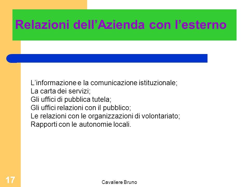 Cavaliere Bruno 16 Ufficio Qualità Controllo di gestione ufficio Drg Ufficio per le relazioni esterne Formazione permanente Sistema informativo aziend