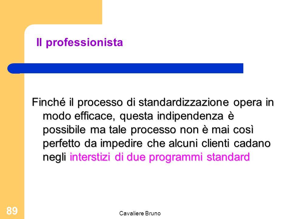 Cavaliere Bruno 88 Di conseguenza, questo tipo di organizzazione pone l'accento sull'autorità di natura professionale Il potere della competenza Il pr