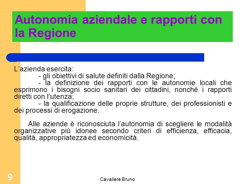 Cavaliere Bruno 109 Accrescere la motivazione Allargamento e arricchimento delle attività/funzioni 1 1 234 2 - responsabilità + compiti + responsabilità - compiti