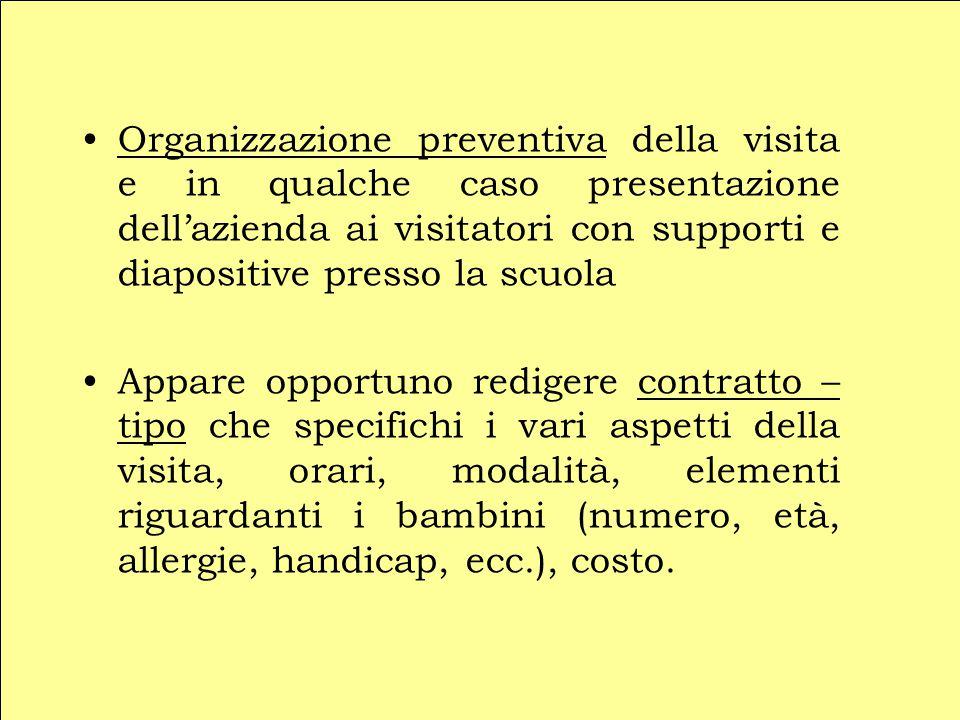 Organizzazione preventiva della visita e in qualche caso presentazione dell'azienda ai visitatori con supporti e diapositive presso la scuola Appare o