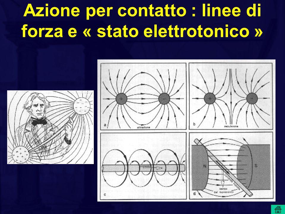 Azione per contatto : linee di forza e « stato elettrotonico »