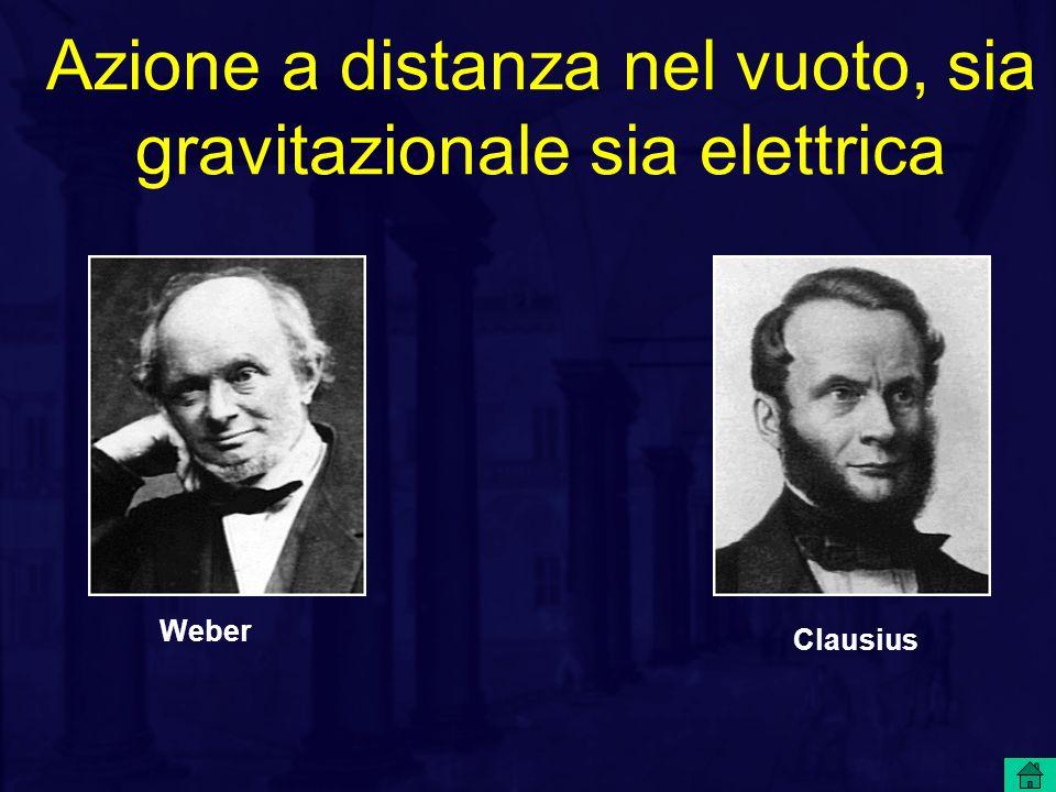 Azione a distanza nel vuoto, sia gravitazionale sia elettrica Clausius Weber