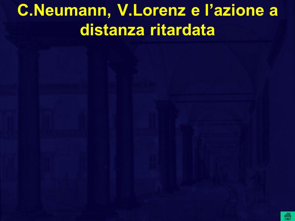 C.Neumann, V.Lorenz e l'azione a distanza ritardata