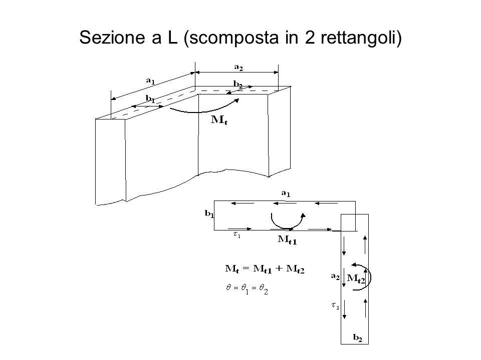 Sezione a L (scomposta in 2 rettangoli)