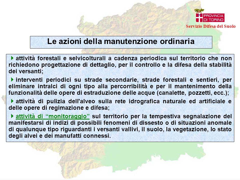  attività forestali e selvicolturali a cadenza periodica sul territorio che non richiedono progettazione di dettaglio, per il controllo e la difesa d