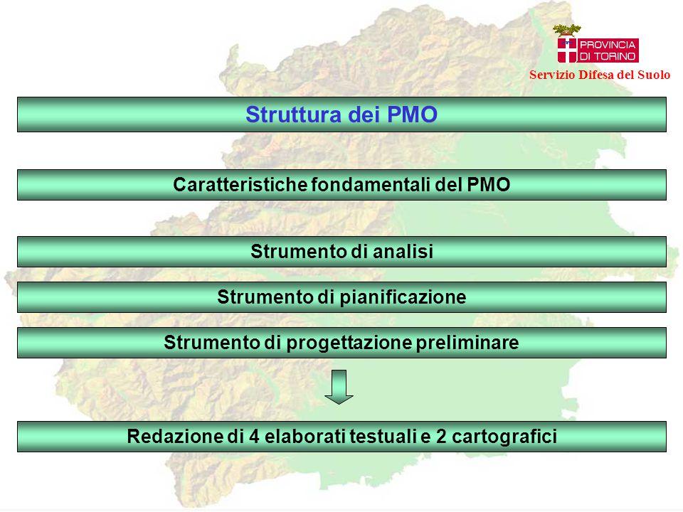Struttura dei PMO Caratteristiche fondamentali del PMO Strumento di pianificazione Strumento di progettazione preliminare Strumento di analisi Redazio