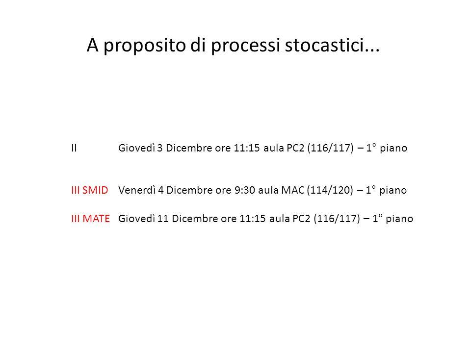 IIGiovedì 3 Dicembre ore 11:15 aula PC2 (116/117) – 1° piano III SMID Venerdì 4 Dicembre ore 9:30 aula MAC (114/120) – 1° piano III MATE Giovedì 11 Di