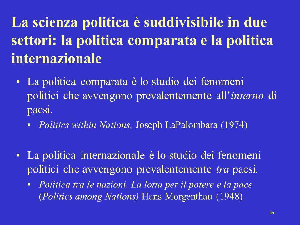 """13 Condizioni ostative che rallentano il cammino della scienza politica in Italia mentalità ideologica e anti-empirica diffusa visione """"ancillare"""" del"""