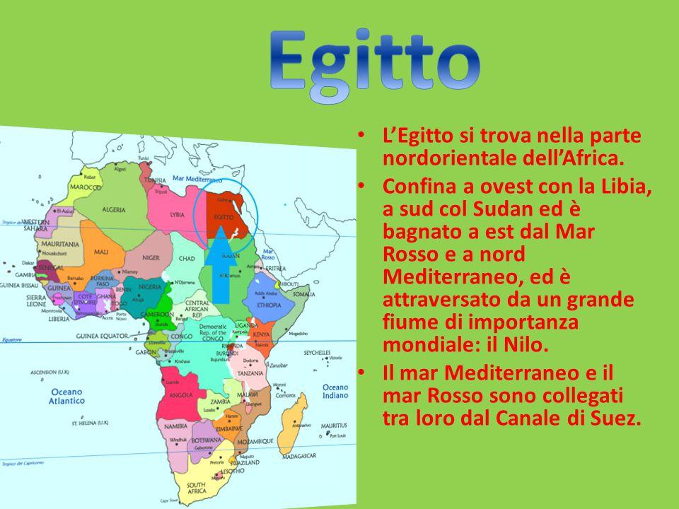L'Egitto si trova nella parte nordorientale dell'Africa.