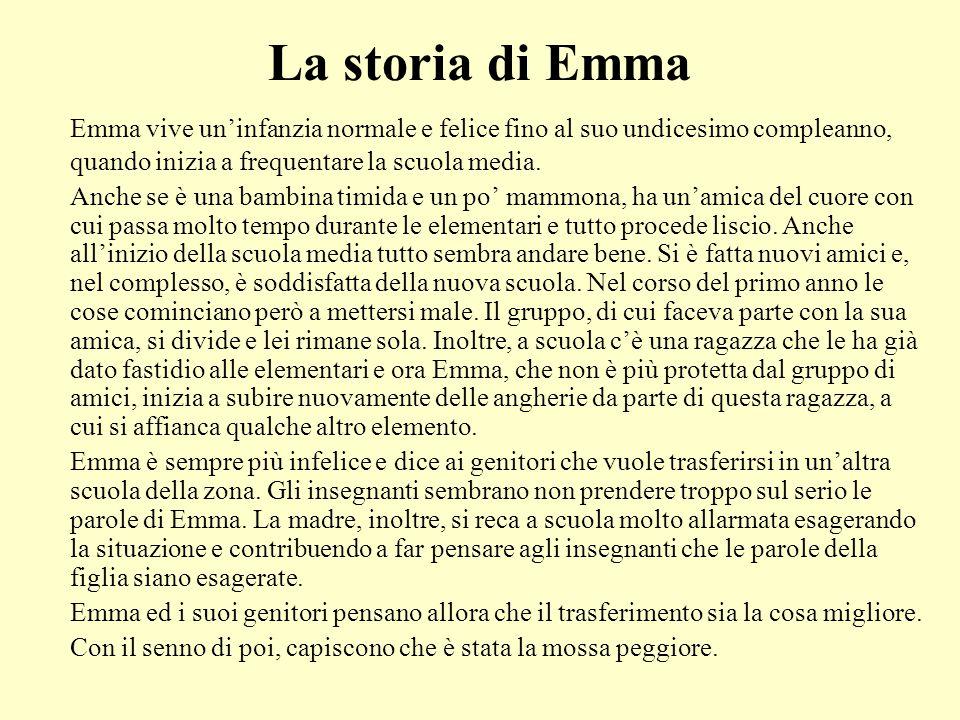 La storia di Emma Emma vive un'infanzia normale e felice fino al suo undicesimo compleanno, quando inizia a frequentare la scuola media. Anche se è un