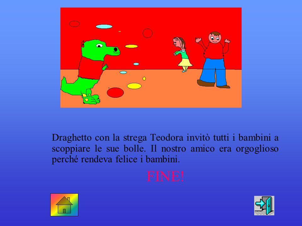 Draghetto capì: era contento di essere un drago diverso dagli altri. Si rendeva utile aiutando i muratori nei loro lavori. FINE!
