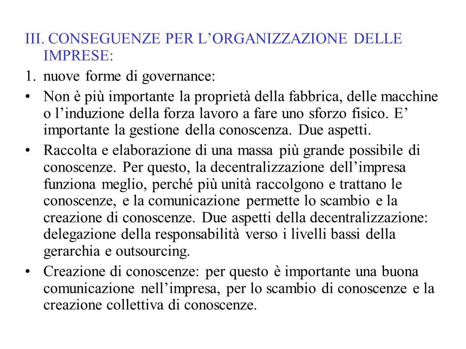 2.Forma organizzativa che corrisponde: l'organizzazione a rete.