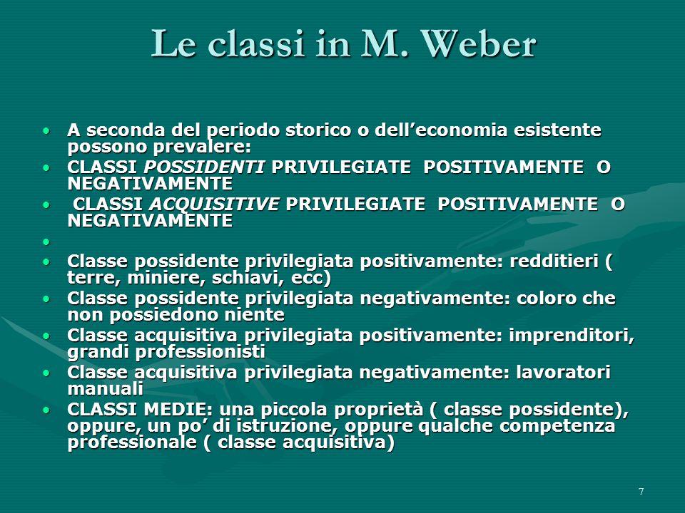 7 Le classi in M.