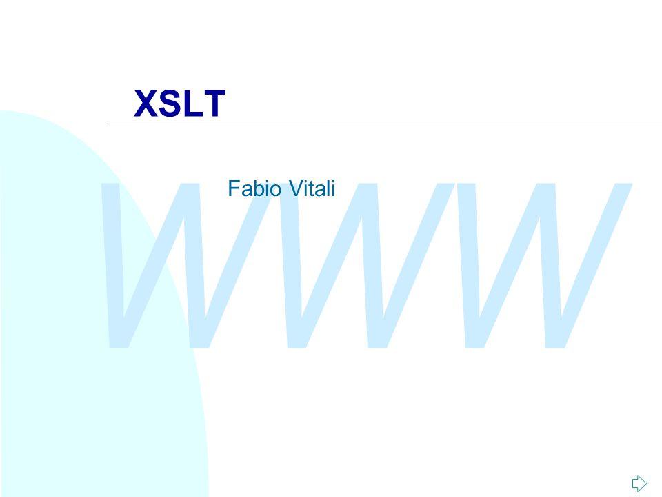 WWW XSLT Fabio Vitali