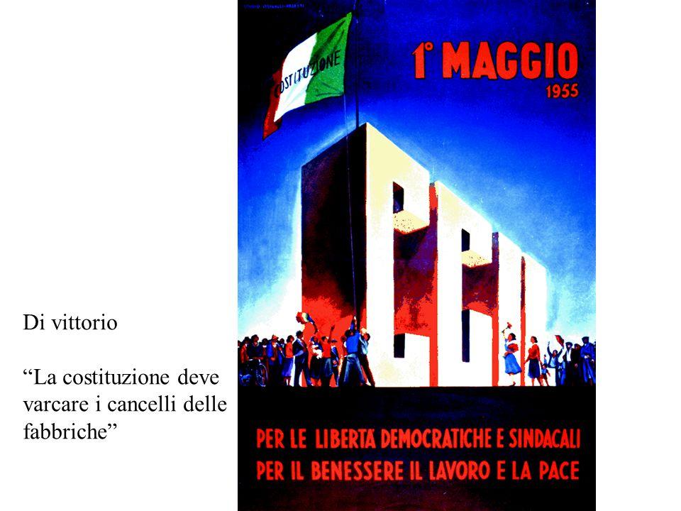 """Di vittorio """"La costituzione deve varcare i cancelli delle fabbriche"""""""