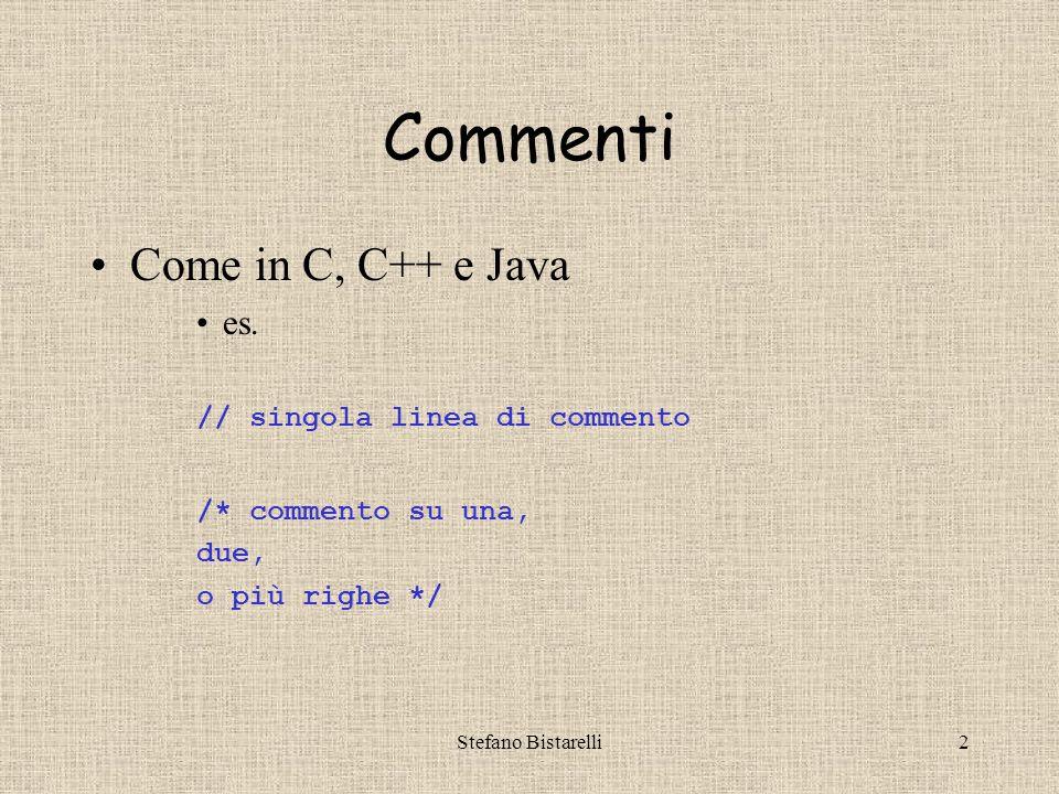 Stefano Bistarelli33 Facciamo uno script VII Ora e Data Correnti <!-- var ora = new Date(); var ora_locale = ora.toString(); var ora_UTC = ora.toGMTString(); document.write( Ora locale: +ora_locale + ); document.write( Ora UTC: + ora_UTC + ); // -->