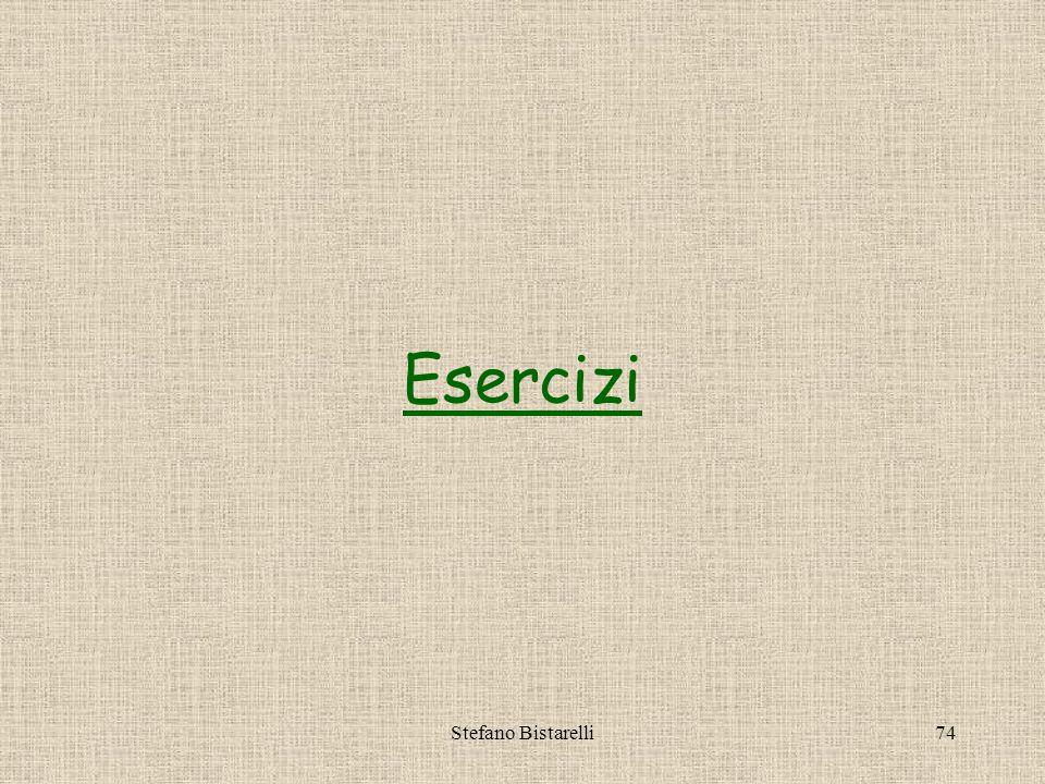 Stefano Bistarelli74 Esercizi