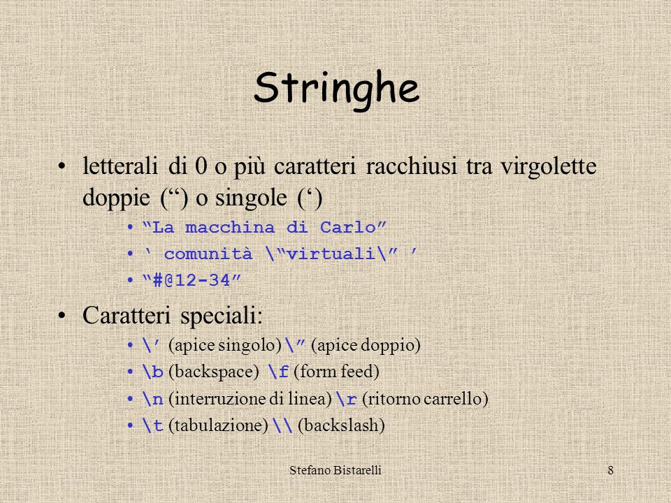 Stefano Bistarelli49 Facciamo uno script II … <!-- function sito(numero) { if (numero == 1) { return http://www.netscape.com ; } if (numero == 2) { return http://www.microsoft.com ; } if (numero == 3) { return http://www.yahoo.com ; } if (numero == 4) { return http://www.google.com ; } alert( Scelta inesistente: Riprova! ); return sitiNumerati.html ; } // -->