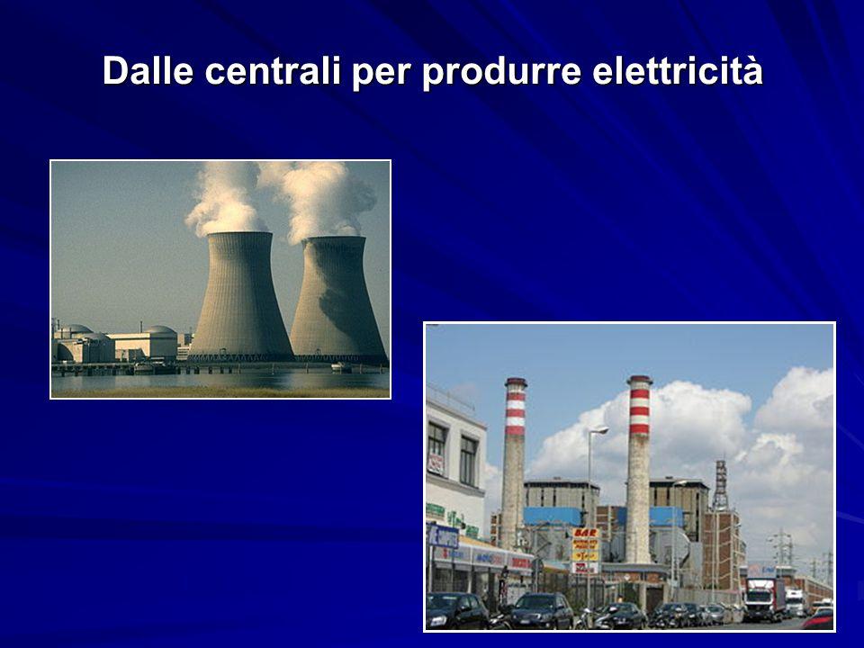 Dalle centrali per produrre elettricità